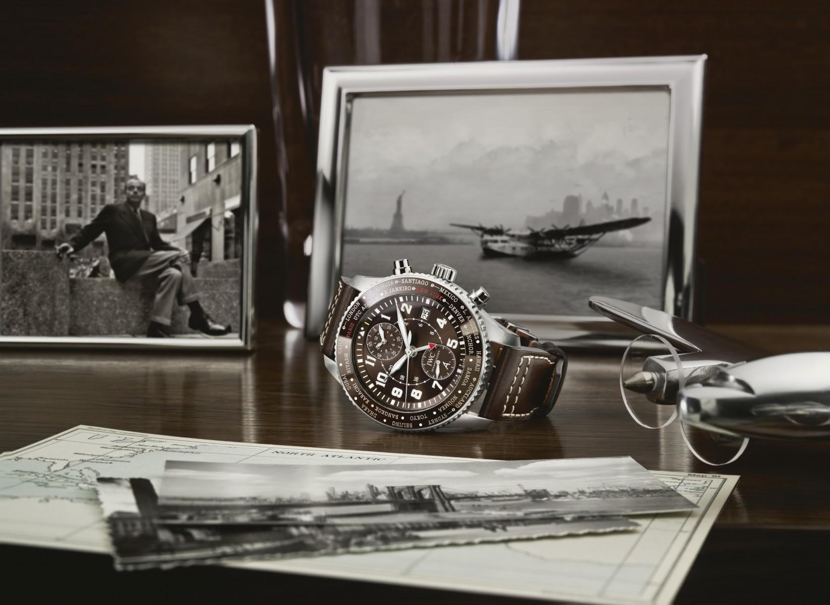 IWCの時計「パイロットウォッチ・ワールドタイマー」